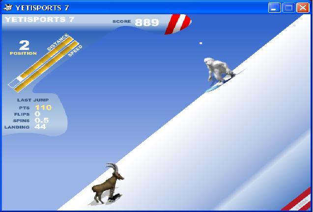 Le Yéti se met au snowboard!